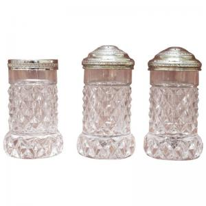 Crystal Salt and Pepper Service, 1930s, 3 pieces price negotiable