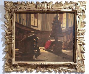 Cattaneo Achille (Mailand 1872-1931) - Innenraum der Kirche