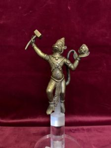 Hanuman en bronce dorado