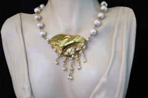 Collana perle e oro