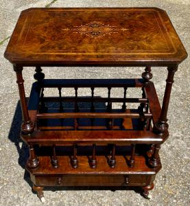 Inlaid gueridon coffee table library