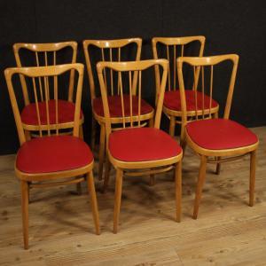 异国木材和人造皮革的意大利设计椅子