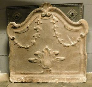 p022-铸铁板,带中央叶片和花茎,尺寸cm 61 xh 61
