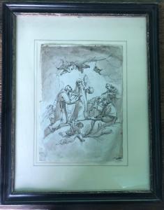 Skizzenzeichnung mit Santa Chiara.