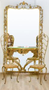Espelho com console e cadeiras, Espelho com console e cadeiras