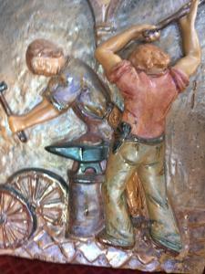 Bottega Gatti ceramic bas-relief