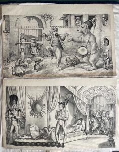 Paar Drucke mit allegorischen Szenen. Autor: Grossi