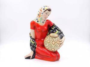 """""""Concetta"""",陶瓷雕塑,Lenci制造"""