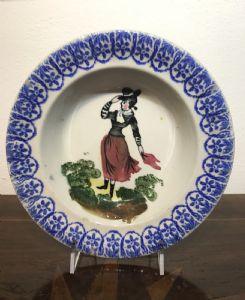 Lote de 3 pratos populares de Vicenza, diâmetro cm.22.5