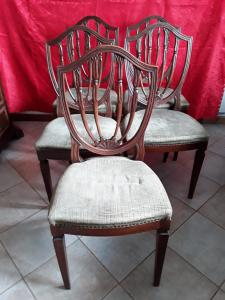 5 louis xvi style chairs strangled legs shield shape vintage 1800 tuscan h100 xh seat 50x l48xp45 granzia legal terms