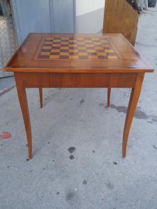 Tavolo da gioco l82x82 h78 direttorio in palissandro noce acero
