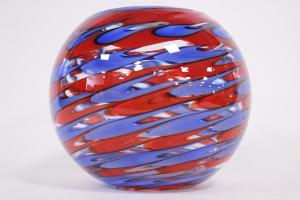Murano glass sphere vase signed by Cammozzo