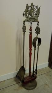 fireplace tools h 72 cm with ship