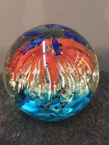 水下玻璃鱼缸碗.Cenedese制造.Murano。