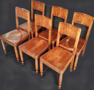 Art Decò walnut chairs