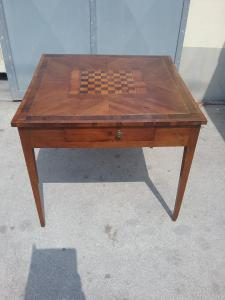Game table 85x85xh77 laminated walnut boxwood rosewood eopca 1700 warranty terms of law