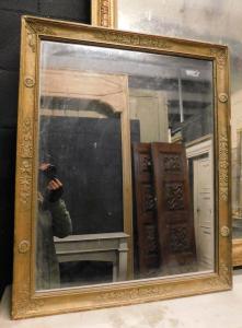 specc121 espejo dorado, principios del siglo XIX; 70 x 85 cm