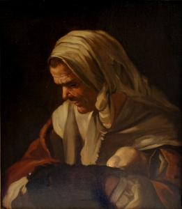 Frau mit wärmerem, Antonio Cifrondi (1665 - 1730)