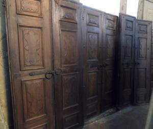 pts678 - n. 3 portas de nogueira, 700, 3 tamanhos diferentes