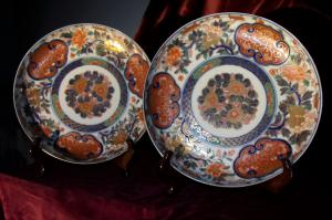 Pair of dishes - Japan.
