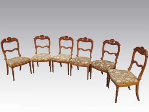 樱桃木CARLO X GENOVESE 800的六个椅子