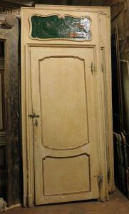pts723 - n. 4 lackierte Türen auf Pappel, 18. Jahrhundert, cm l 115 xh 274