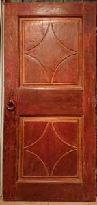 Porta pintada em guache e entalhada no final do século XVII