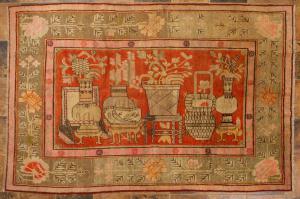 Antiker Samarkanda-Teppich - Nr. 1416 -