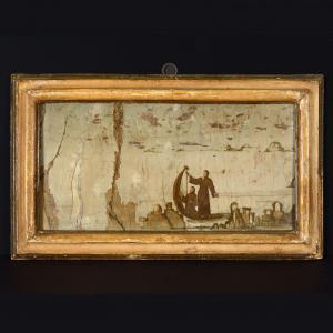Coppia di paesi e dipinte, artista toscano del XVI Secolo