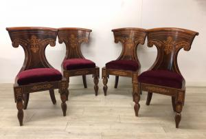 Set of four Neapolitan chairs 1830, Smith style