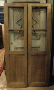 pti693 - стеклянная дверь из каштана, 19 век, размеры в см l 100 xh 191