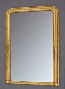 Specchio cornice dorata con foglia oro 143,5 x 98,3