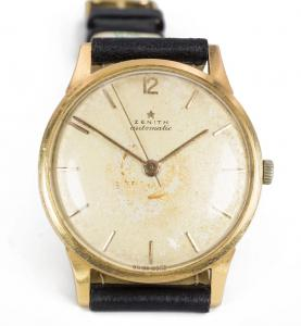Zenith automatic bumper wristwatch in gold 50s