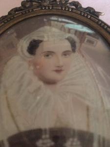 Miniatura del siglo XIX sobre marfil