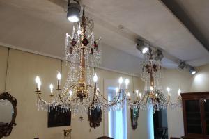 一对热那亚的枝形吊灯,19世纪晚期