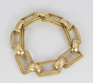 18k gold bracelet, 40s
