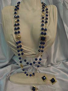 Sets lapis lazuli and gold - Unique piece