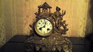 Clock with shepherd boy