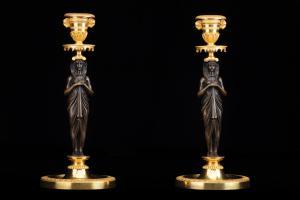 Coppia candelieri Retour d'Egypt