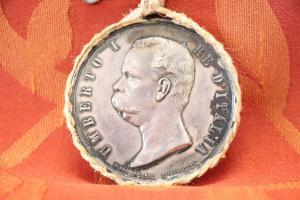 Rare collector's coin silver Umberto I king of Italy Milan exposure 1881 euro 270 negotiable