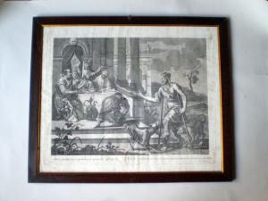 allegories THE THROAT and THE ENVY Venetian print