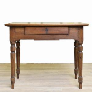 Scrittoio in stile Luigi XVI in noce, Louis XVI style writing desk in walnut