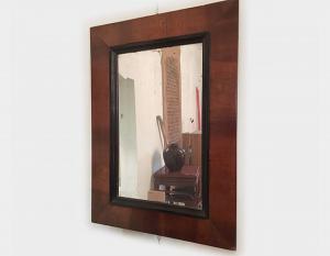 Specchiera antica lastronata in essenza di noce Art 224