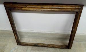 moldura de madeira velha