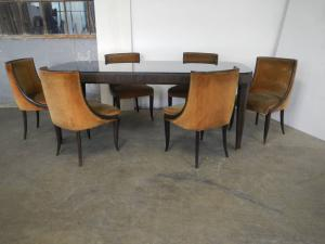 poltronas de mesa estilo paolo buffa milão 1940