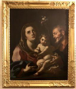 """Картина маслом на холсте с изображением """"Святого Семейства"""""""