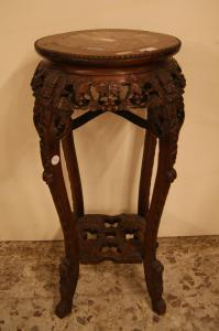Antique plant stand from the 1800s with marble top