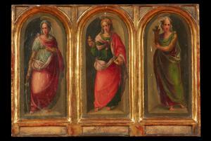 Triptych on wood - Tuscan school