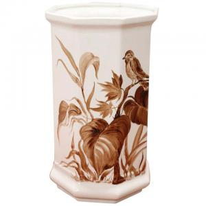 Hand painted artistic ceramic vase circa 1980