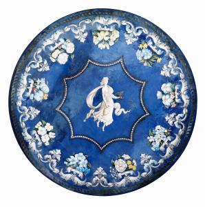 Tischplatte aus Marmor und Scagliola